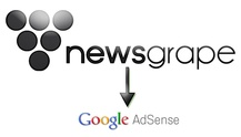 Title Image Of Newsgrape + AdSense = Now